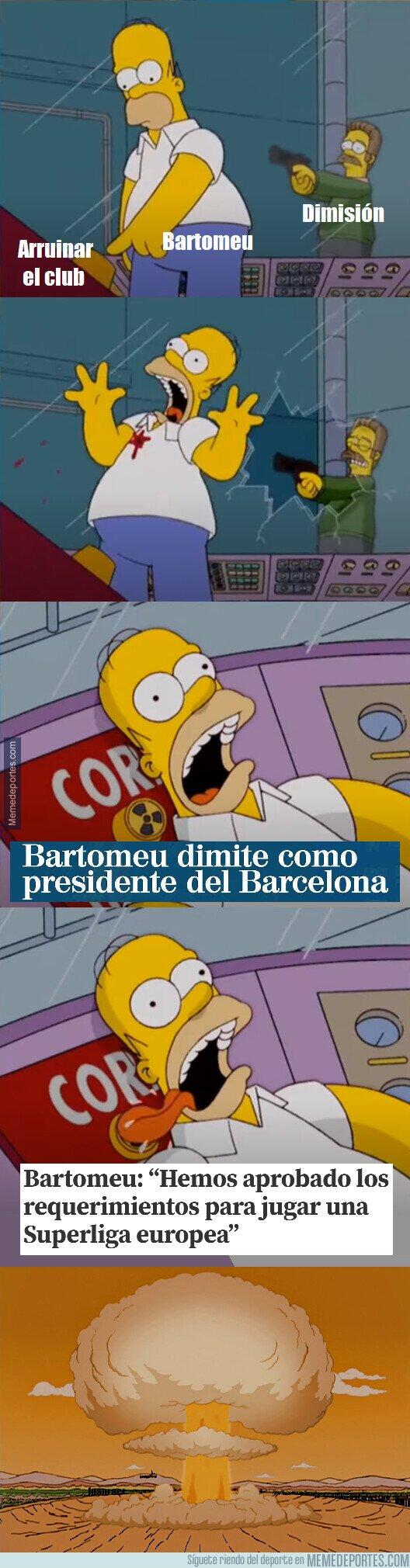 1119183 - Bartomeu se fue dejando una última noticia que podría cambiar el futbol europeo