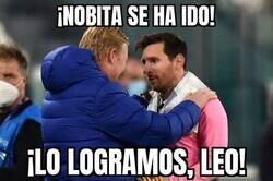 Enlace a Lo que Koeman y Messi se dijeron en Turín