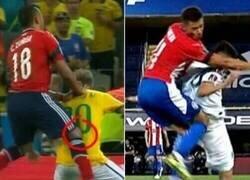 Enlace a Angel Romero le fracturó la columna a Palacios de la misma forma que a Neymar. 3 meses de baja