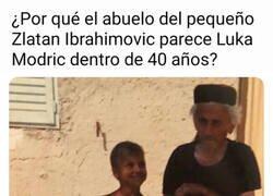 Enlace a El Zlatan del pasado junto al Modric del futuro