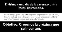 Enlace a Messi es el jugador más calumniado que conozco.