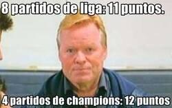 Enlace a El Barça ha hecho más puntos en Champions que en Liga