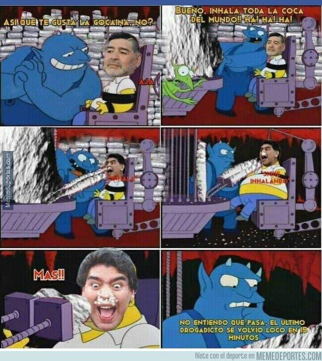 1121183 - Maradona al llegar al infierno