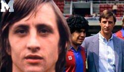 Enlace a El inquietante mensaje de Cruyff a Maradona tras fallecer con el que todo el mundo está alucinando