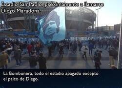 Enlace a Los homenajes de algunos estadios para Maradona
