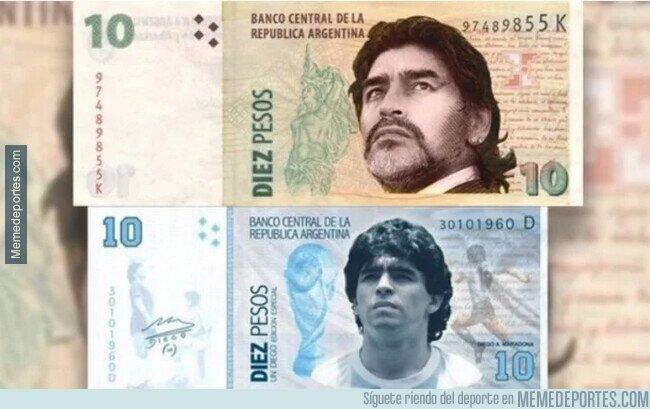 1121280 - Desde Argentina suena la propuesta de un billete con el rostro de Maradona. ¿Tú que opinas?