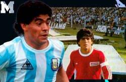 Enlace a Así fue el debut de Maradona narrado por él mismo en el año 1975 con 15 años