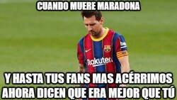 Enlace a Mala suerte Messi...