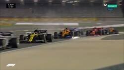 Enlace a Grosjean sufre este aparatoso accidente del que sale ileso
