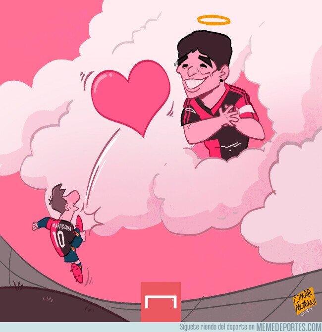1121467 - De Messi a Maradona. Del campo hasta el cielo.