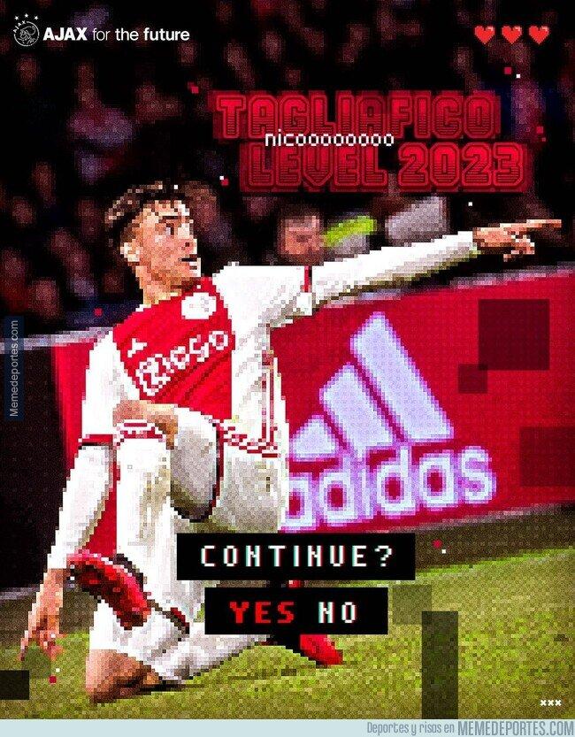 1121836 - Podrás ser genial, per nunca como Tagliafico y su anuncio de renovación con el Ajax
