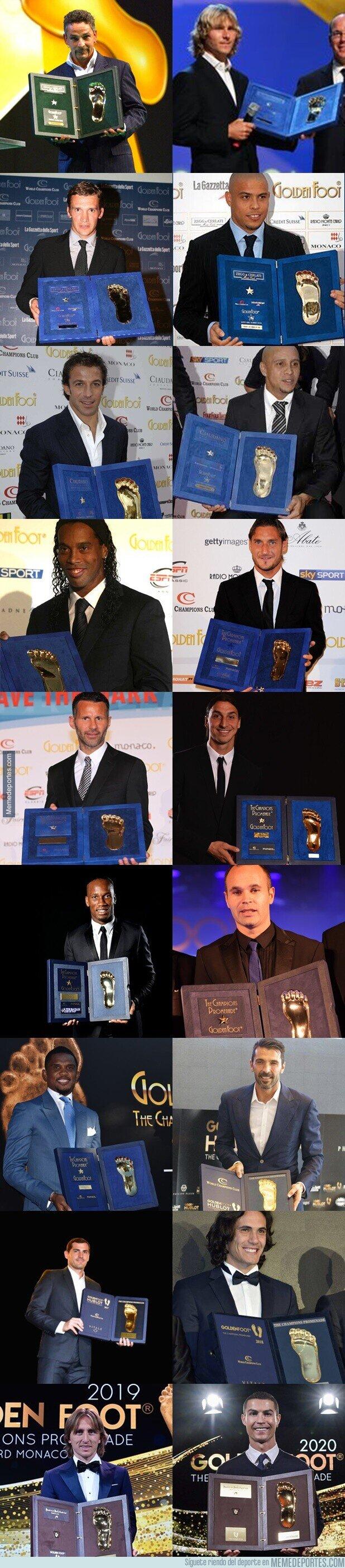 1123445 - Todos los ganadores del Golden foot desde 2003. Solo élites