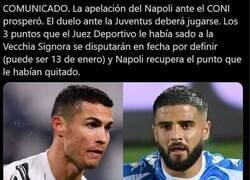 Enlace a El escándalo de la temporada en Italia se resuelve a favor del Napoli