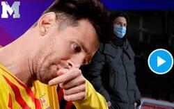 Enlace a El gesto de Messi tras finalizar el partido en el Camp Nou que demuestra que está muy descontento con el equipo