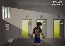 Enlace a Messi ya es libre de decidir su futuro, por @zezocartoons