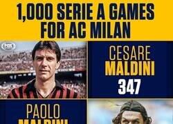 Enlace a 3 generaciones, 1000 partidos en Serie A