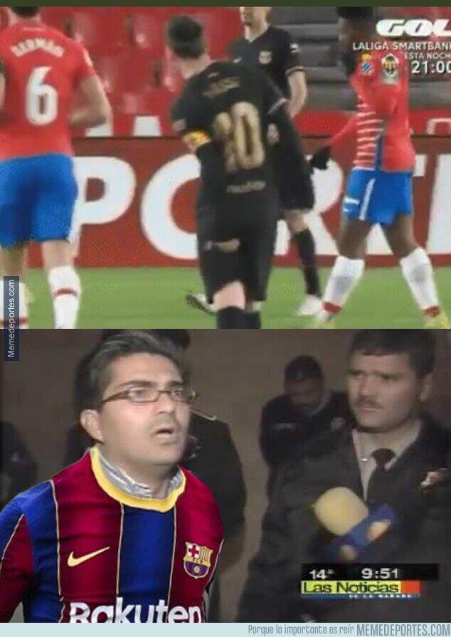 1125025 - Messi salió ante granada por molestias. Se pudrió todo.