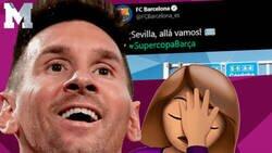 Enlace a Todo el mundo se está cachondeando del Barça por la imagen que han puesto para celebrar el pase a la final de la Supercopa