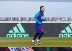 Enlace a Messi ya se entrena