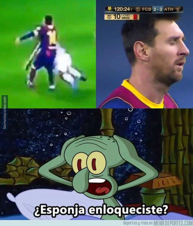 1125630 - Messi acabó expulsado por primera vez con el Barça