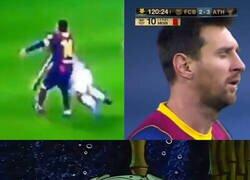 Enlace a Messi acabó expulsado por primera vez con el Barça