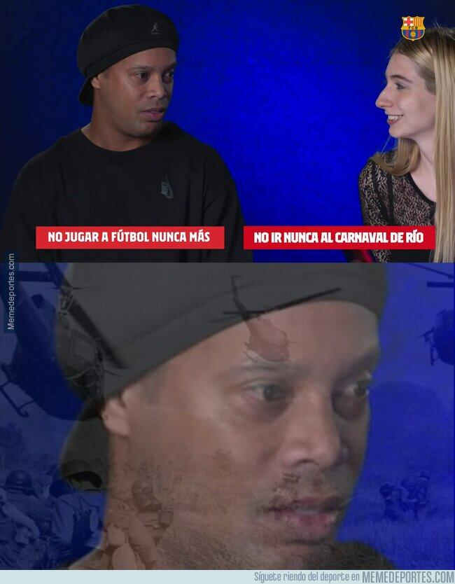 1125865 - El momento en el que Ronaldinho se vio en un auténtico apuro