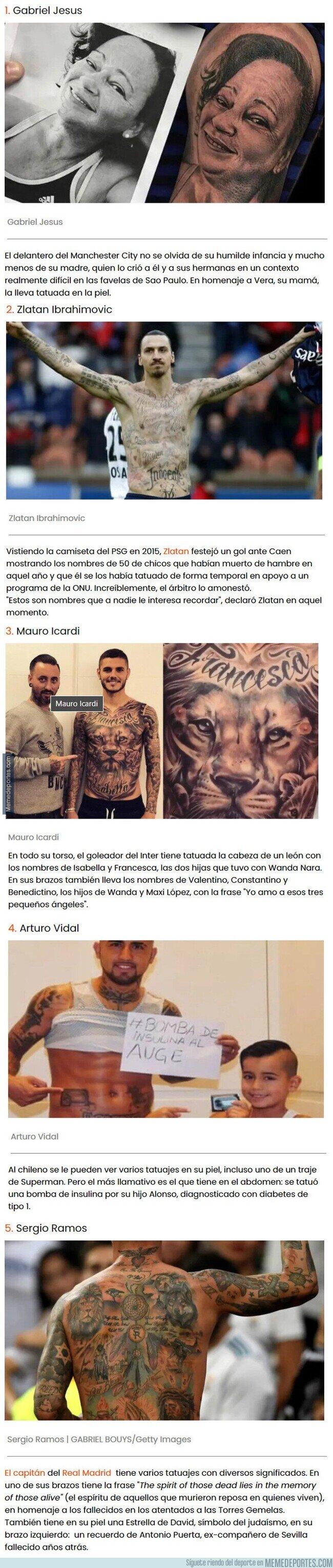 1126056 - Historias inspiradoras escondidas detrás de los tatuajes de grandes futbolistas