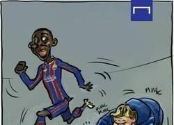 Enlace a El Barça Dembedependiente