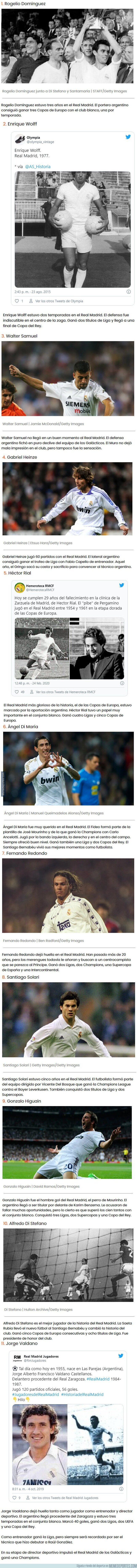 1126335 - Este es el equipo ideal de argentinos en la historia del Real Madrid
