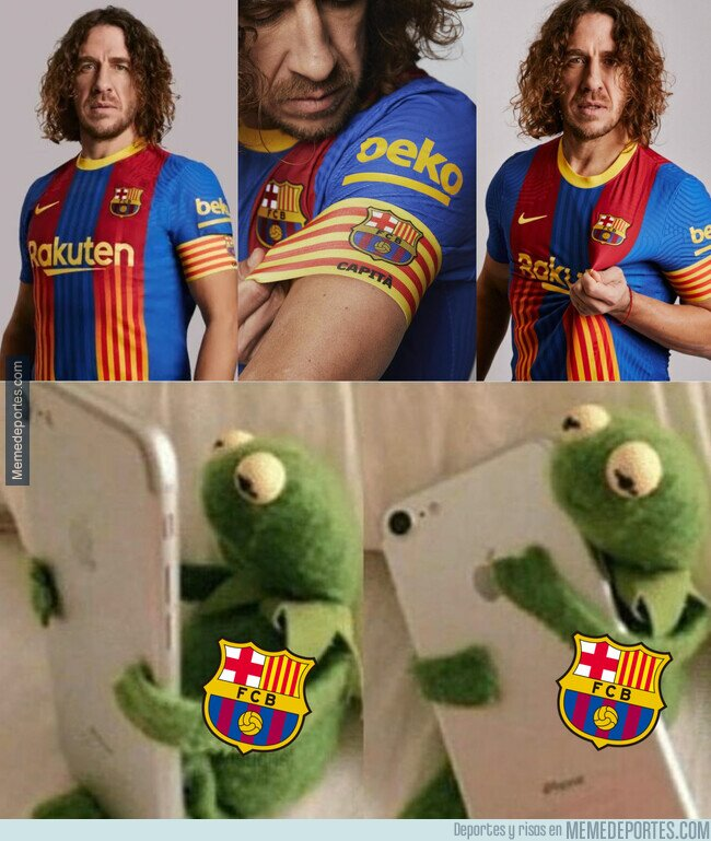 1126377 - Puyol presenta la camiseta del Barça para el próximo Clásico