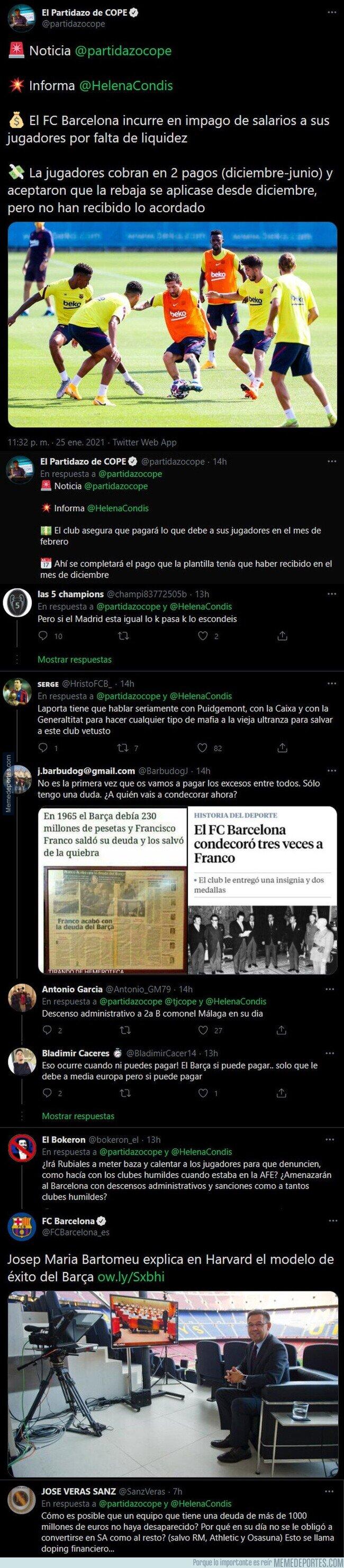 1126391 - La noticia sobre el Barça de la que todo el mundo está hablando y que muchos piden que desaparezca el club