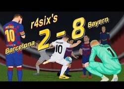 Enlace a La parodia del Barça 2-8 Bayern que han subido varios meses después y está haciendo reír a todos los madridistas de nuevo