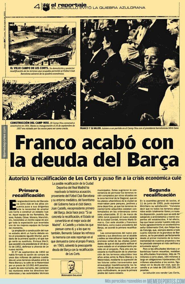 1126458 - El Barça y los favores que le hizo Franco