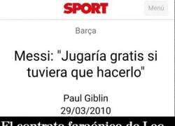 Enlace a En eso, también es mejor Messi que Cristiano, el portugués nunca diría q jugaría