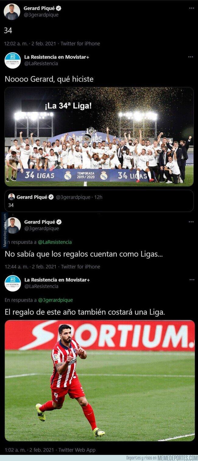 1126807 - La respuesta apoteósica de 'La Resistencia' a Piqué tras felicitarle el 34 cumpleaños al central del Barça