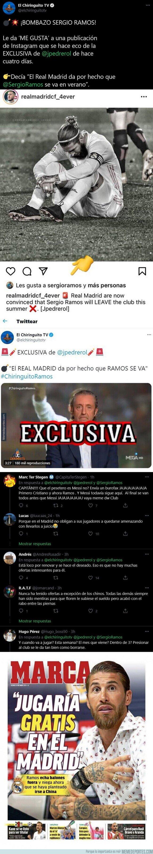 1126847 - El 'Me gusta' de Sergio Ramos a esta publicación que está dinamitando el Real Madrid por su posible marcha