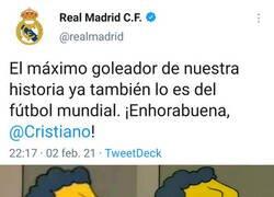 Enlace a Me ha entrado una felicitación del Madrid a Cristiano en el ojo
