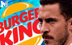 Enlace a Burger King se la saca totalmente respondiendo así a la ausencia de Hazard a un entrenamiento del Real Madrid