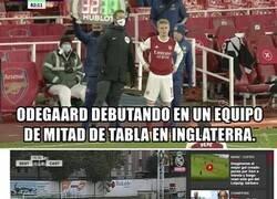Enlace a Ha debutado Odegaard con el Arsenal