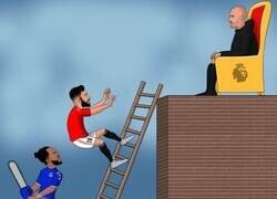 Enlace a El Everton baja al United de la pelea por el título, por @brfootball