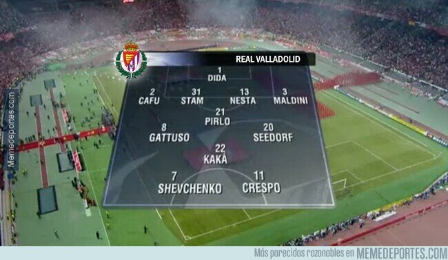 1128413 - La alineación del Valladolid contra el Madrid