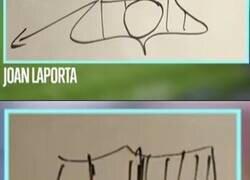 Enlace a Les pidieron a los candidatos del Barça dibujar el escudo del club, y bueno...
