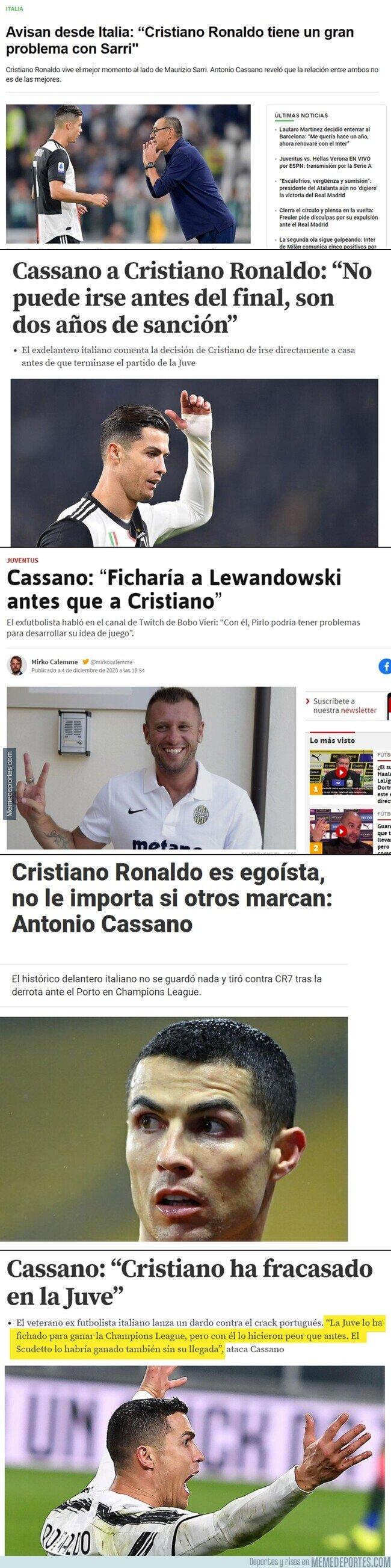 1128936 - Ya nos consta a todos que a Cassano no le cae muy bien Cristiano