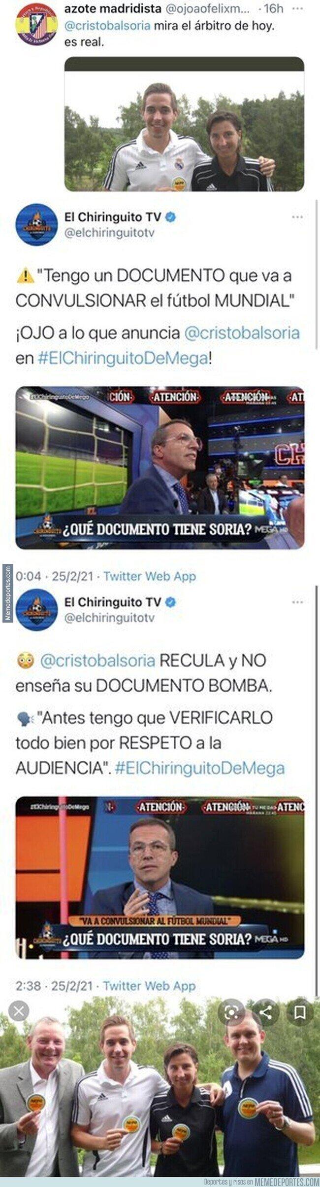 1128995 - Este es el nivel de Cristóbal Soria en El Chiringuito donde intentaba dejar mal al Real Madrid e hizo el ridículo