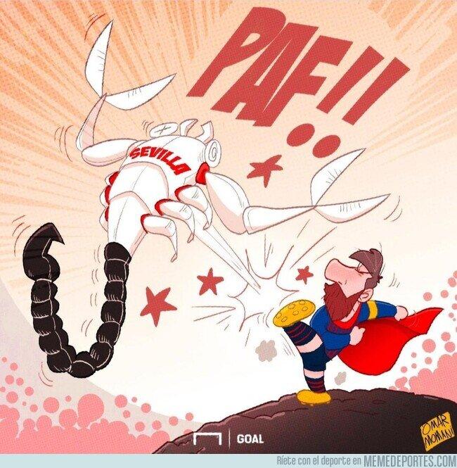 1129006 - Leo Messi acaba con los hispalenses