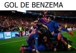 Enlace a Culés en el gol de Benzema