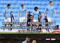 Enlace a Manchester United es el único equipo de la Premier League al que el City no le pudo anotar ni un gol