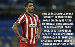 Enlace a Luis Suárez saca pecho