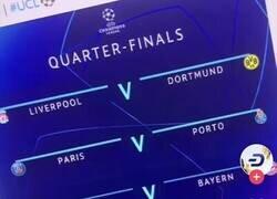 Enlace a Aparentemente ya se han filtrado los resultados del emparejamiento de cuartos de Champions