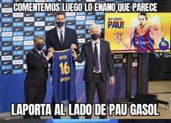 Enlace a Laporta todo mal en la presentación de Pau Gasol
